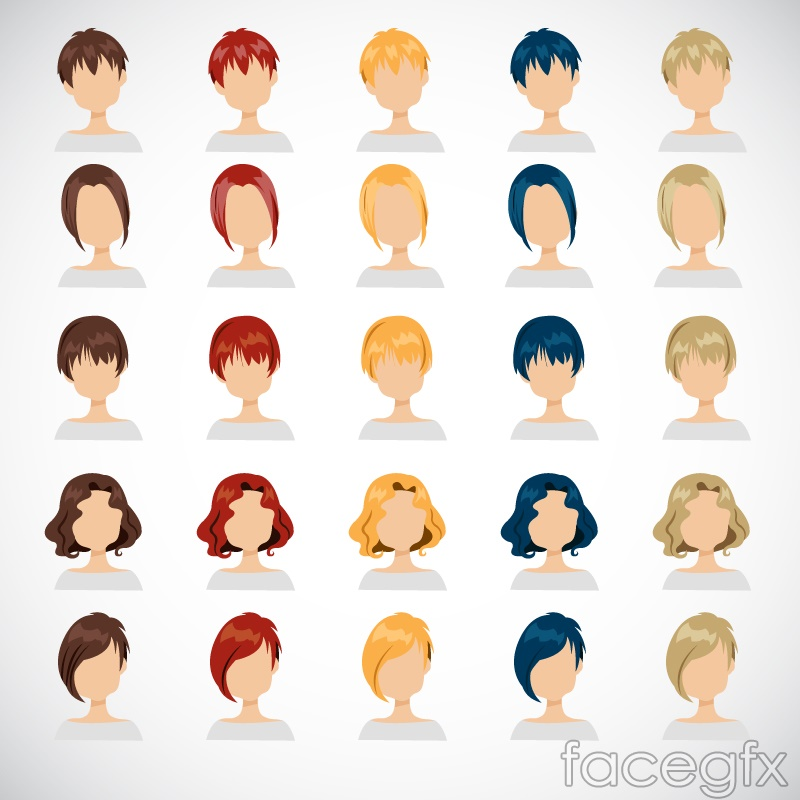 25 expressionless character avatar cartoon vector illustration