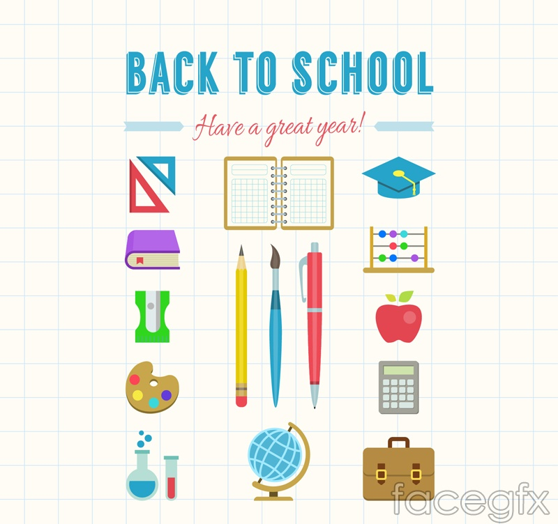 16 color stationery vector