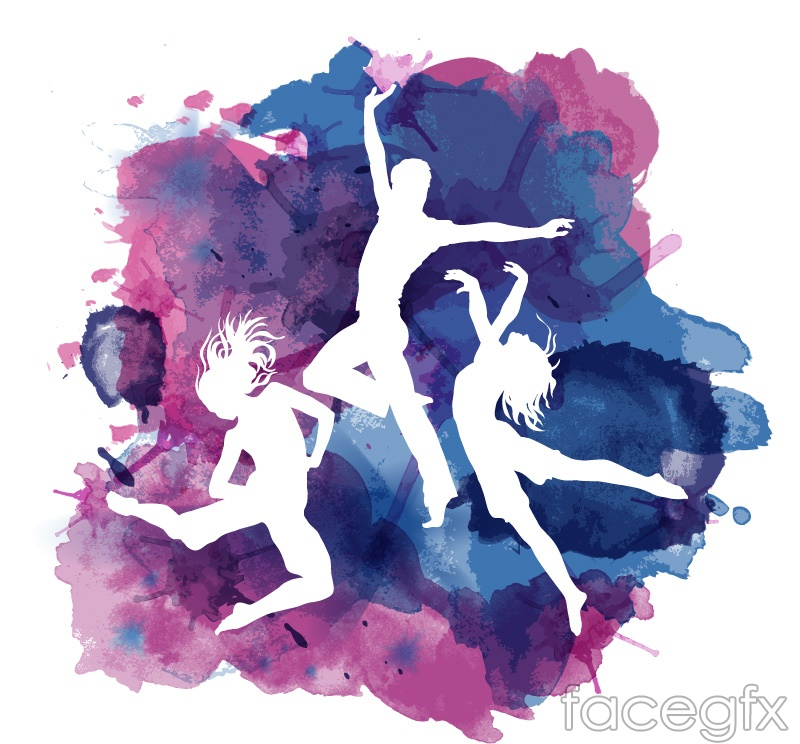 dance figures and ink vector free download