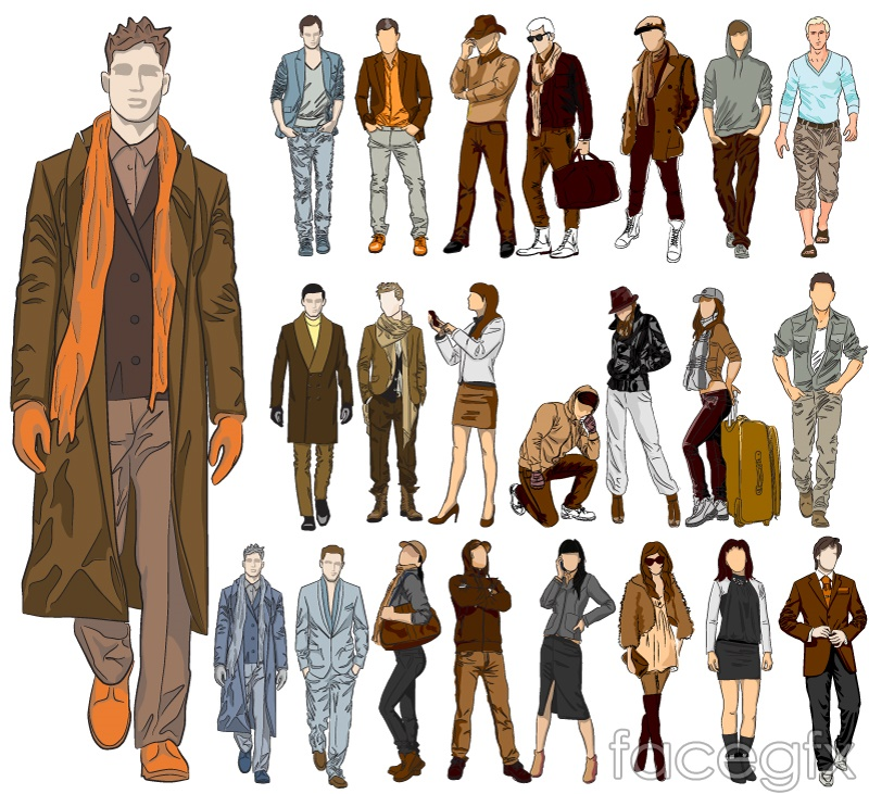 23 fashion model design vector