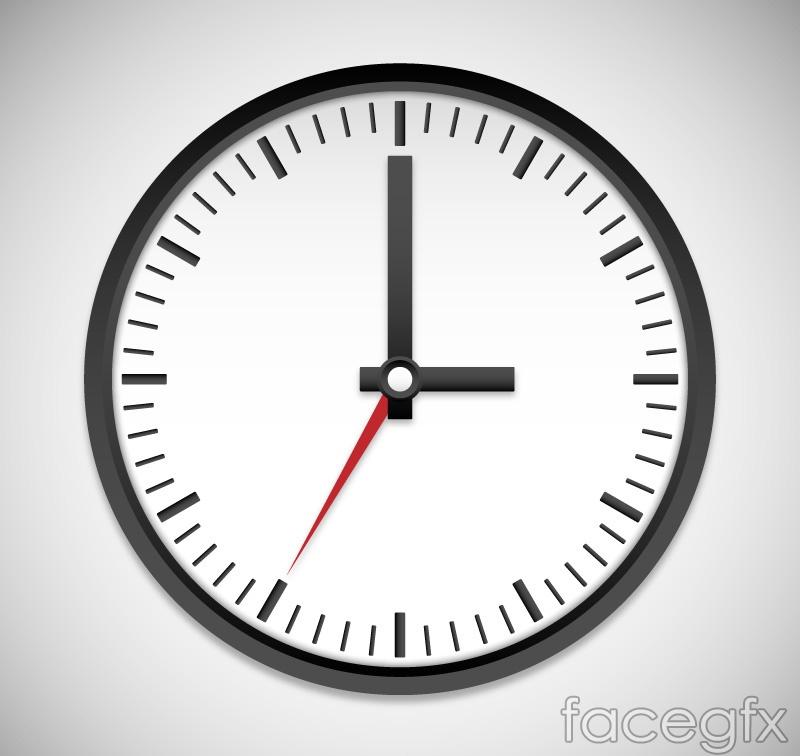 Black clock design vector