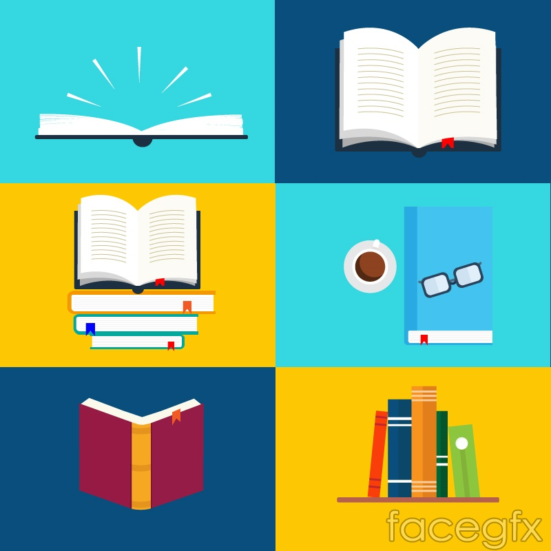 6 book design vector
