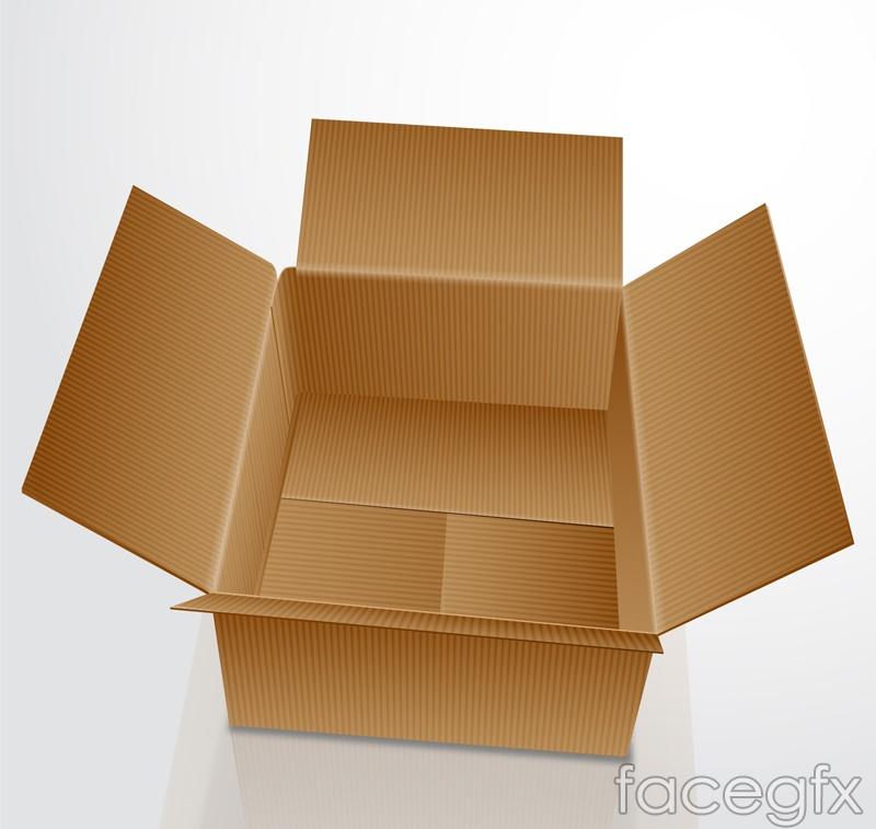 Open carton vector