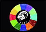 2015 circular calendar vector