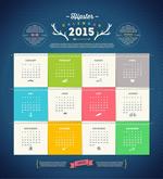2015 fashion calendar vector
