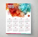 Color 2015 calendar vector