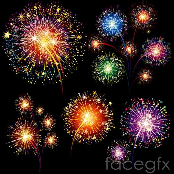 Festival of fireworks vector