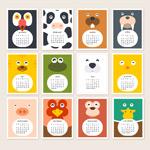 2015 animal calendars vector