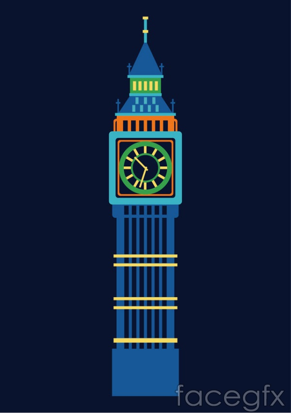 United Kingdom Big Ben vector