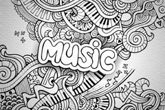 Abstract patterns music vector illustration