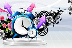 Alarm illustration fashion pattern vector