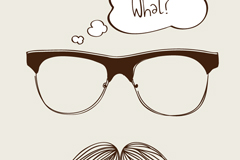 Creative beards vector illustration