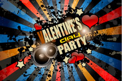 Current Valentine's Party poster vector
