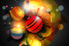 Dream color stripes ball background vector
