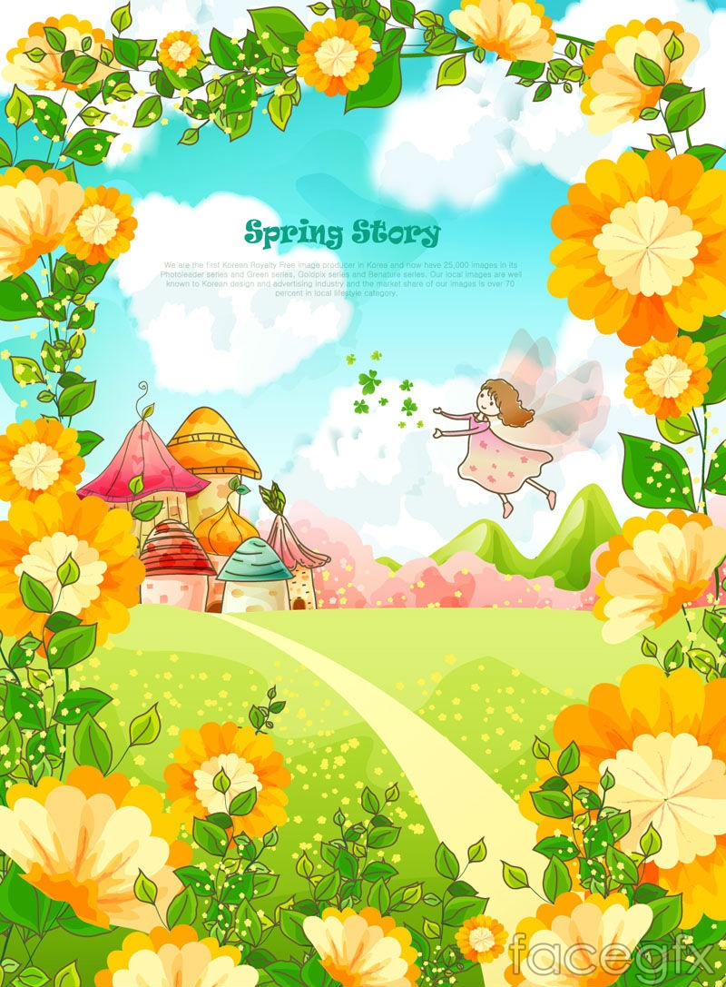 Spring Flower Cartoon Clip Art Free Vector For About 2