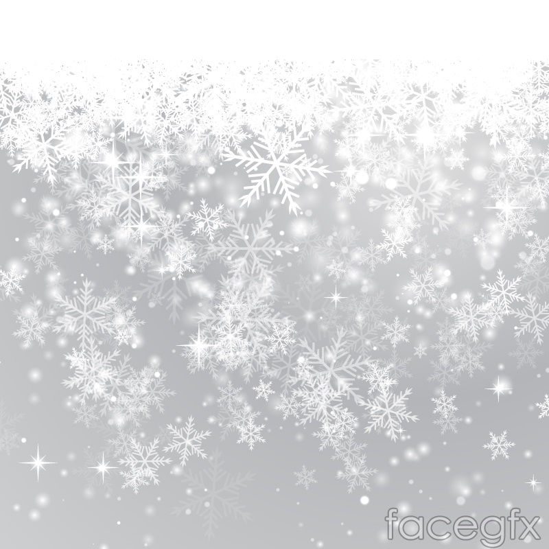 beautiful winter snowflake background vector  free download, Powerpoint