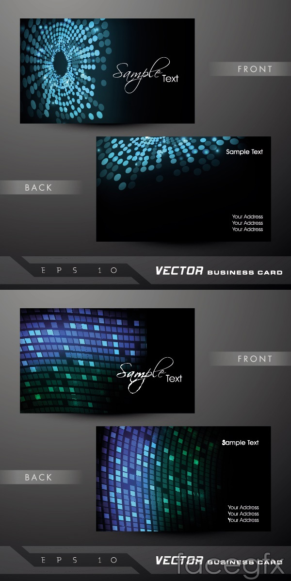 Cool business card design vector