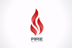 Beautiful flame logo design vector