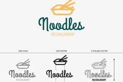 Coloured noodle logo vector