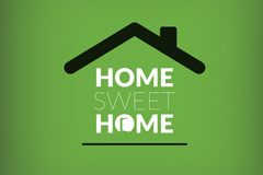 Sweet Home House logo vector