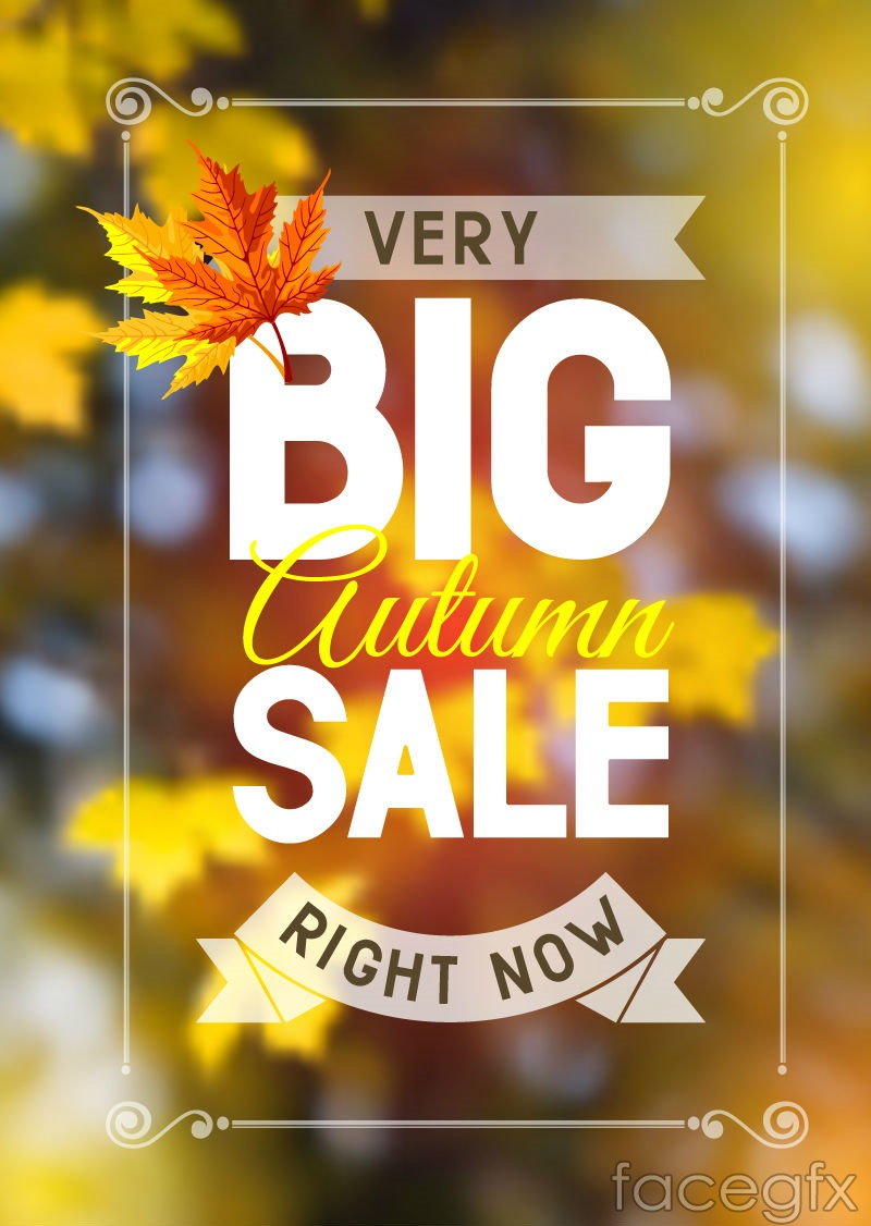 Poster design vector download - Autumn Promotion Poster Design Vector