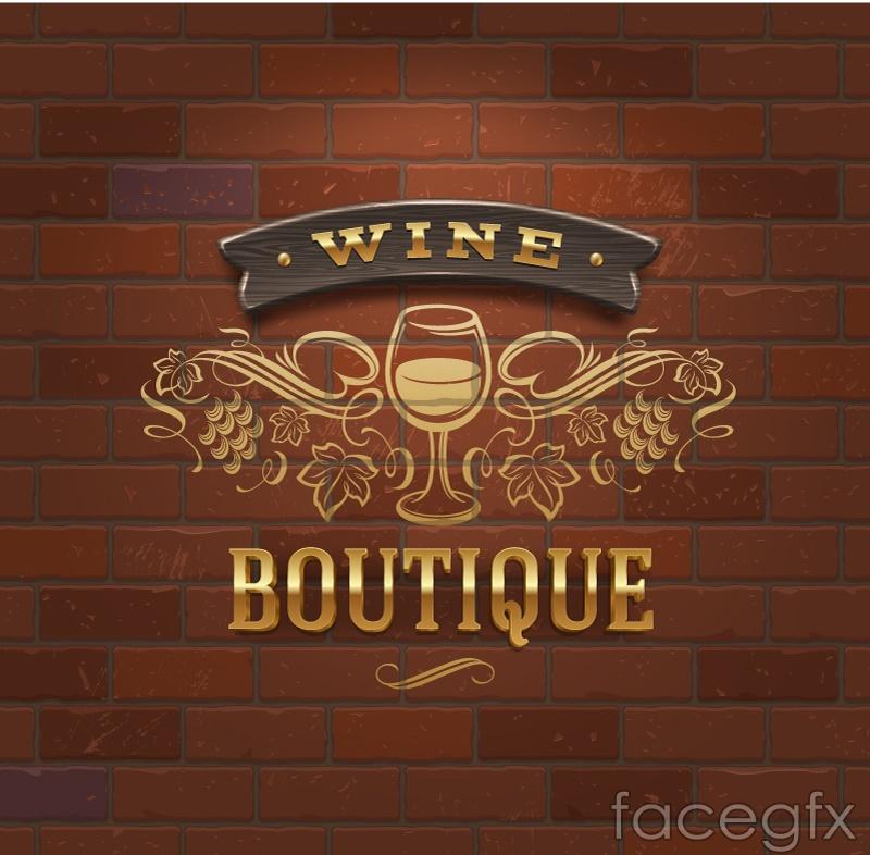 Exquisite wine list design vector