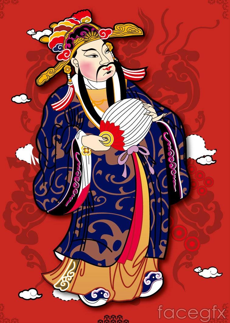 Chinese new year money, vector