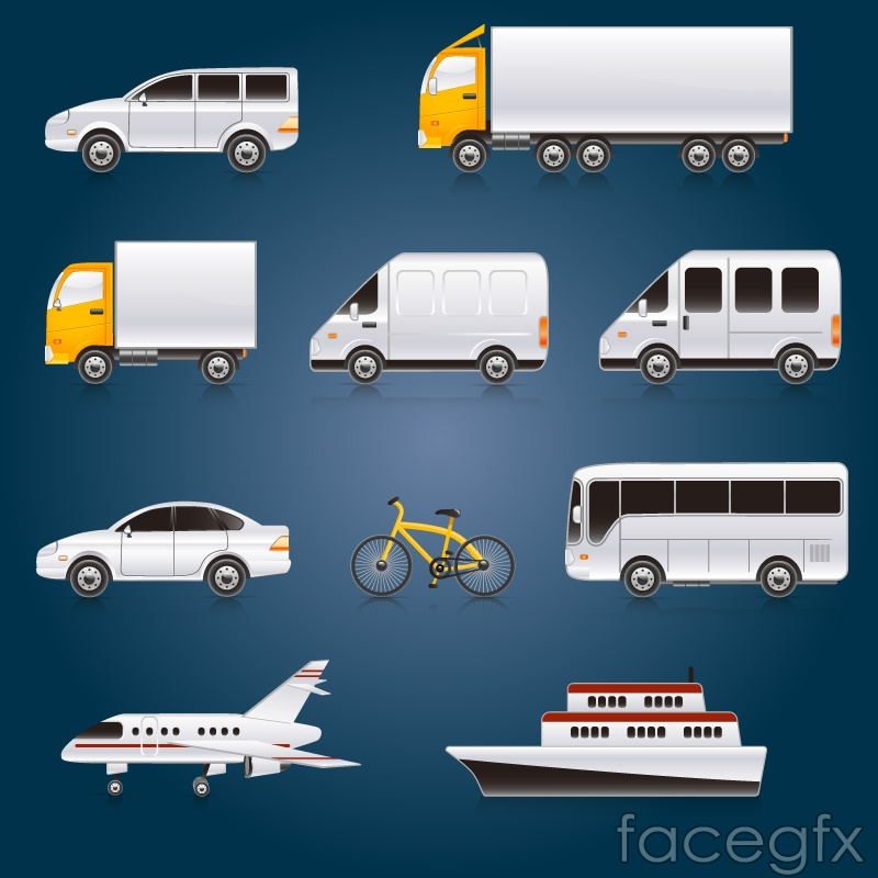 Exquisite cartoon transportation vector