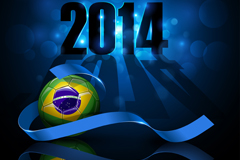 Blue World Cup fashion background vector