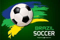 Dynamic fashion football Brazil World Cup, vector