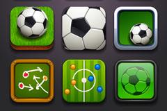 Exquisite square football icon vector