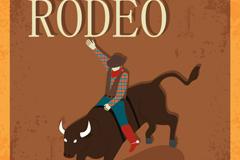 Cartoon Bull race background vector