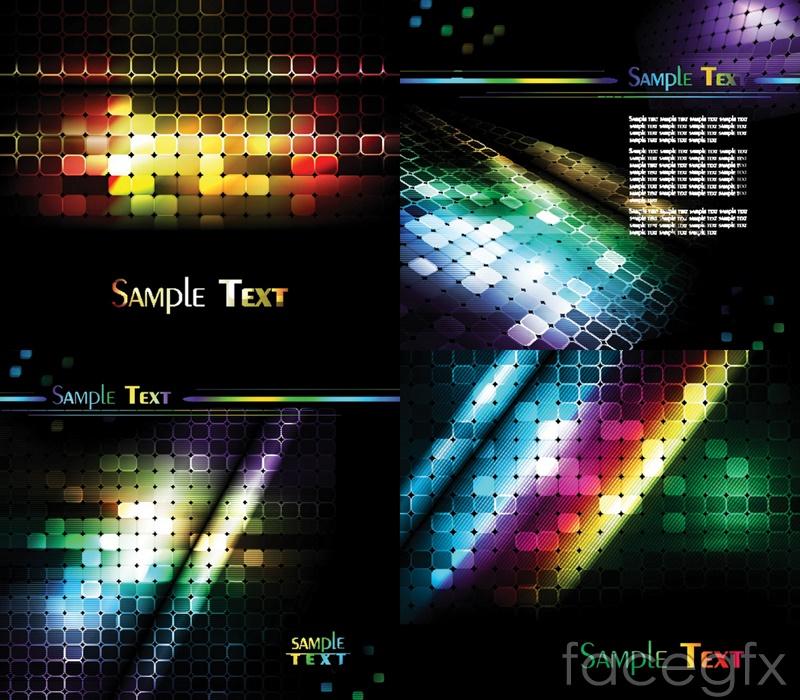 Cool neon backgrounds vector