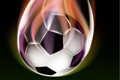 Creative flame football background vector