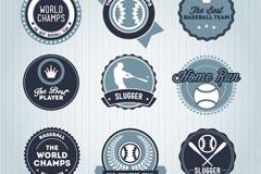 Round baseball tag vector