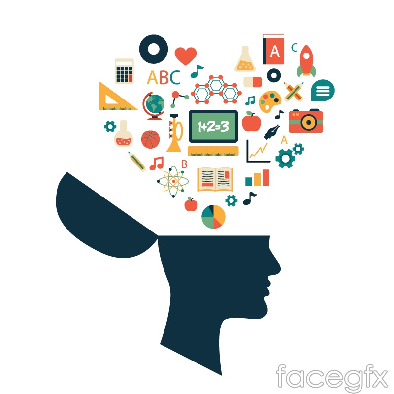 Download Flying Out Of The Brain's Education Design Elements Vector ...