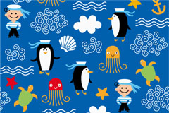 Cartoon marine elements vector illustration