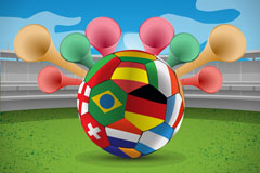 Creative World Cup soccer background vector