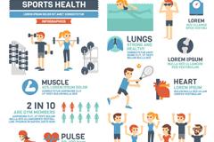 Vector cartoon figure moving health information