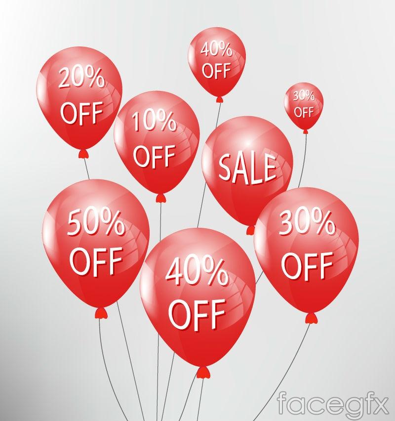 Creative discounts balloon vector