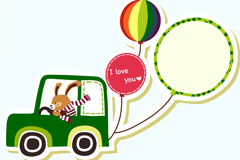 Motoring rabbit clipart vector