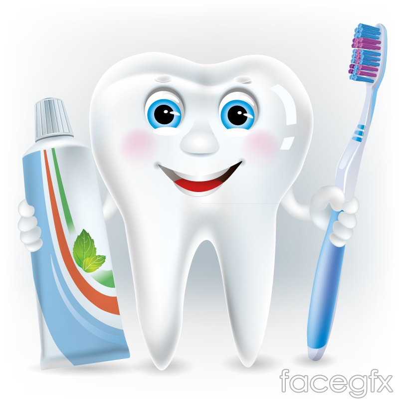 Cartoon tooth design vector