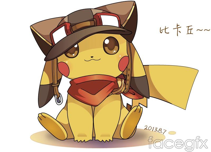 Pokemon cartoon vector