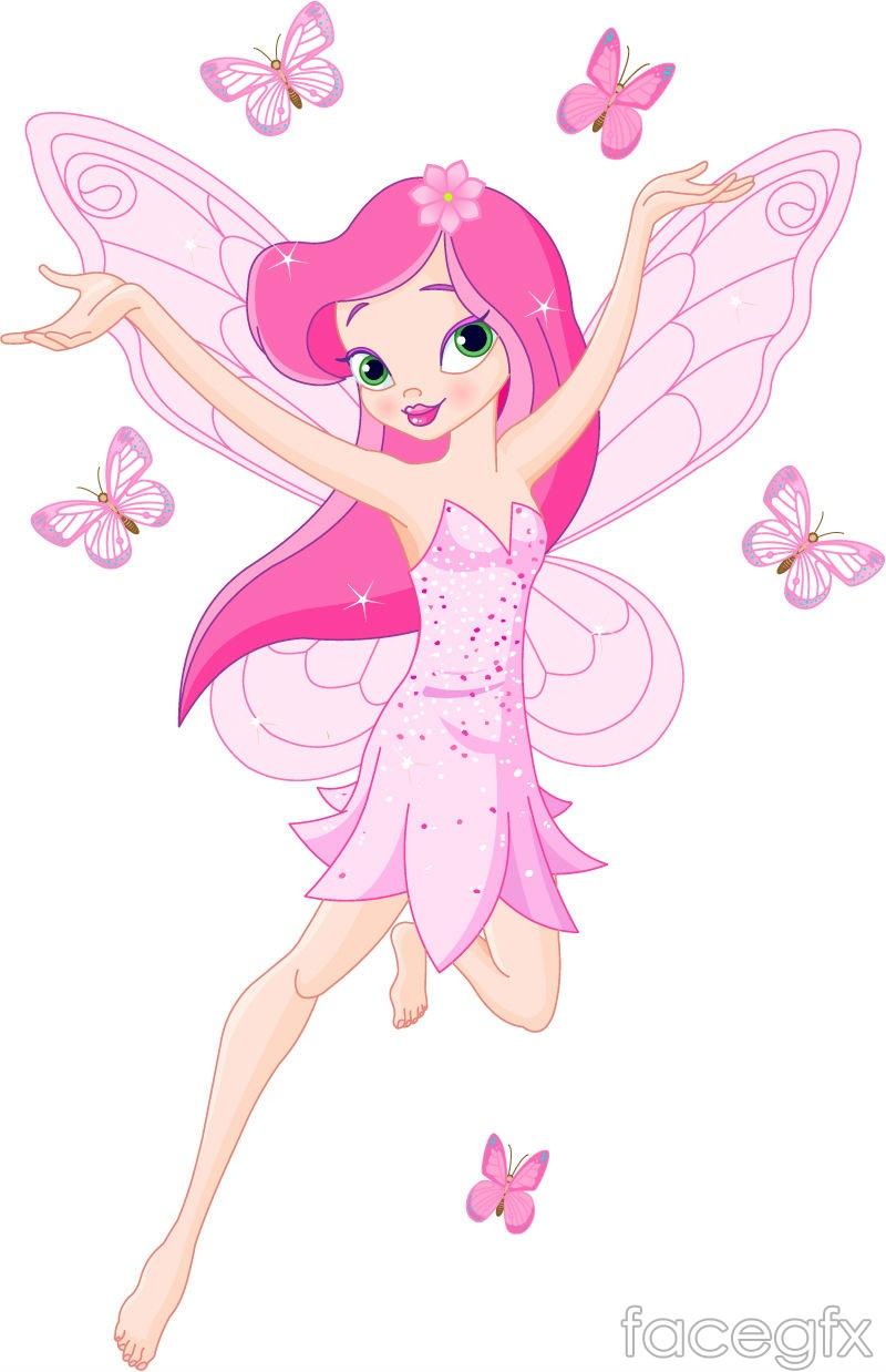 Flower fairy cartoon vector
