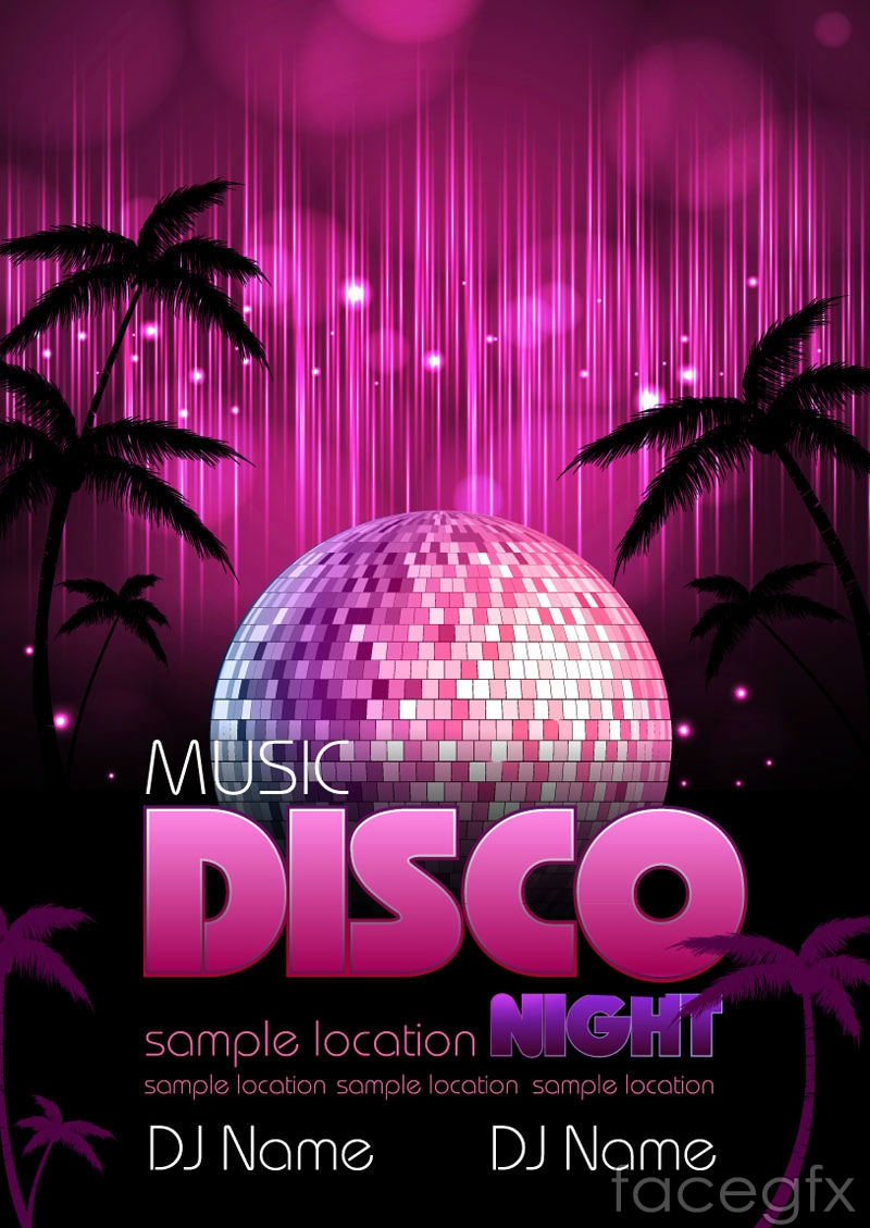 Poster design background psd - Shiny Disco Ball Background Vector