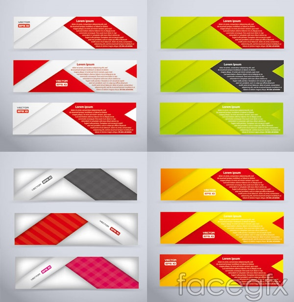 Banner creative vectors