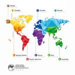 Fashion world map vector
