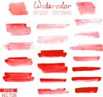 Red water ink vector