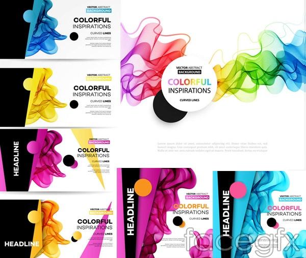 Colorful geometric curve 4 vector