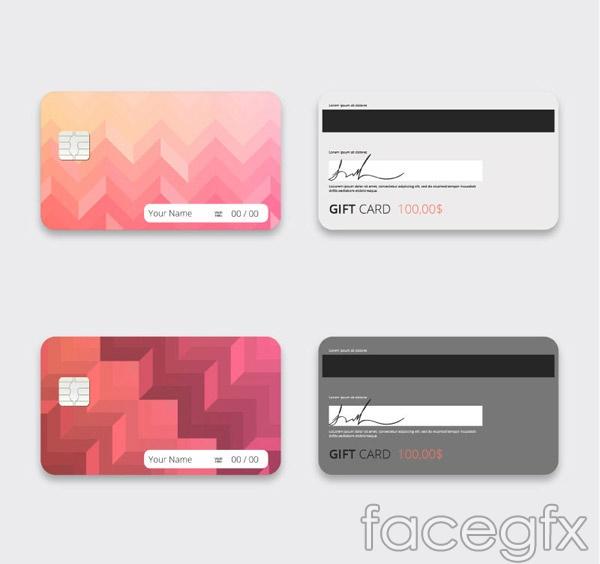 Fashion gift card vector